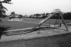 003074 Childrens slide in the recreation ground, Ilminster before the 'Rec' was reduced in size for the construction of Canal Way 1997
