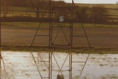 003083 Tennis courts under water at old school field, Ilminster 1983