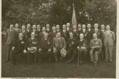 000269 Officers from the Ilminster branch of the British Legion featuring E H Denning, G R West, F E Daniel, Fred Clapp, Stan Bailey, Rosewell, Beale, Farrs, Hoyel, Swain, Percy Bailey, Jack Gosling, Jenkins, Bert Lee, Rev N J Boughton, Joseph Duke, W A North, G Sparrow, L Cornelius, J R Paull 1935