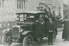000945 Boys in a van on their way to camp 1927