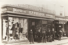 000071 Staff and shop front of R P Wheadon c1920