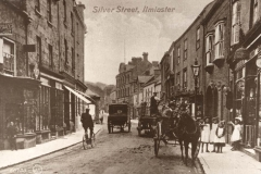 000073 Looking towards Market Square showing an ironmongers shop on the right c1900