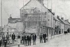 000538 The corner of upper Silver Street showing demolition of shops c1910