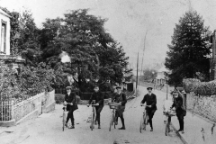 000097 Cyclists of various trades c1900