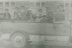 000755 Group from Seavington Sunday School in charabanc owned by F J Davis of Ilminster c1920
