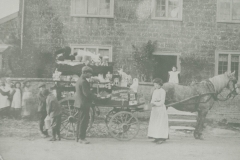 000766 Manuel Tucker with his travelling horse and cart emporium outside Allenby House c1900