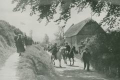 000770 Horses in School Lane during Silver Jubilee celebrations 1935