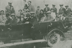 000771 Male family in charabanc on outing to Weymouth c1925