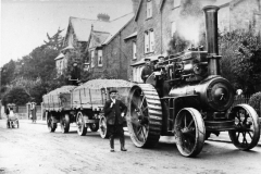 000049 Stone being transferred from the station, Ilminster by a steam  traction engine 1912