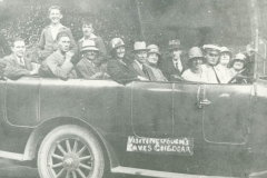 000257 Ilminster church choir in charabanc for outing to Wells, Cheddar and Weston super Mare 1925