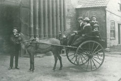 000263 Family in horse and trap at the gasworks, Ilminster c1900