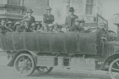 000544 Group in charabanc, Ilminster c1920