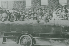 000545 Group in charabanc, Ilminster c1920