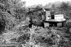 000081 Wharf Lane, Ilminster, digging out the canal for fishery c1980