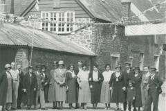 000653 Group in Wharf Lane, Ilminster for George V's Silver Jubillee celebrations 1935