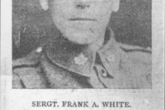 003030 Newspaper cutting featuring Sergeant Frank A White DCM c1916