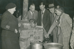 000268 Civil Defence Emergency cooking exercise in Market Square, Ilminster 1954