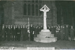 000648 Ilminster RAFA at Battle of Britain service, Ilminster featuring Roy Crockett, Monty Banks, Bradbury, A H Edwards, Arthur Case, Stanley Hunt, Ray Brice, Ken Granger c1974